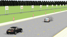 Euro NCAP AEB demo with city and inter-urban scenarios