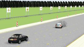 Euro NCAP AEB demo with city and inter-urban scenarios