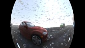 Fisheye camera with rain