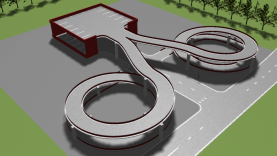 Cloverleaf road interchange