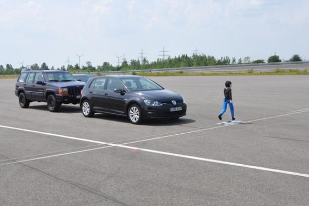 AEB Test - Child Pedestrian - medium