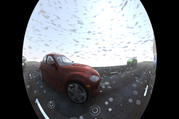 Fisheye camera with rain